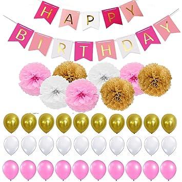 Decoración Cumpleaños, Adornos fiesta,Set para fiestascon ...