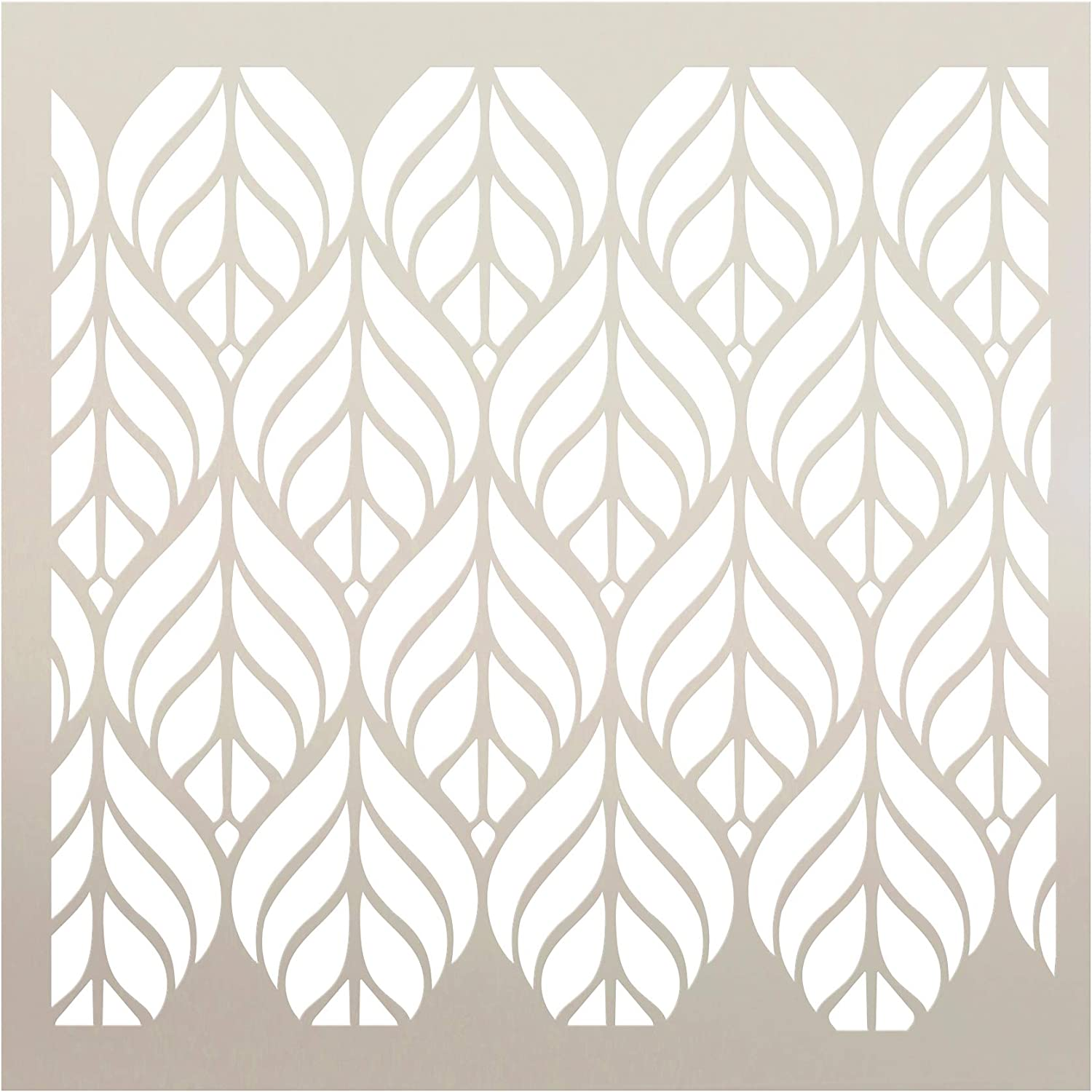 "Fun with Shapes Abstract Leaf Nature Stencil StudioR12 | Wood Sign | Reusable Mylar Template | Wall Decor | Multi Layering Art Project | Journal Art Deco | DIY Home - Choose (6"" x 6"")"