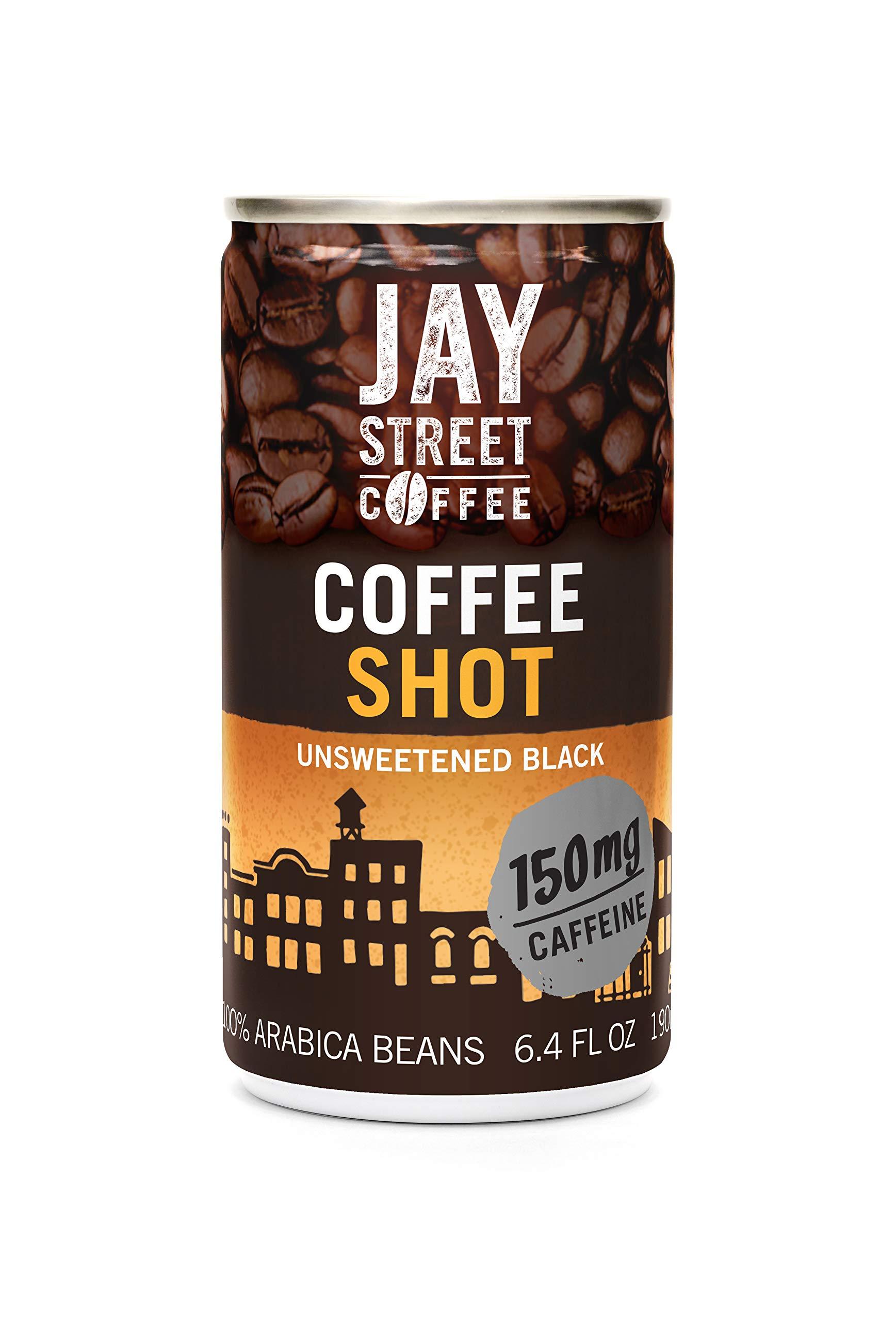 Jay Street Coffee, Coffee Shot, Unsweetened Black, 6.4 Ounce (Pack of 20) by Jay Street Coffee
