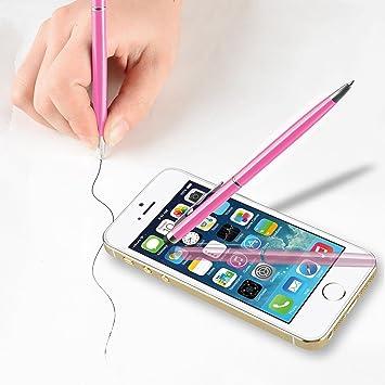 Puntero Boligrafo Lapiz Touch Pen Rosa Para Apple iphone 6/6 Plus ...