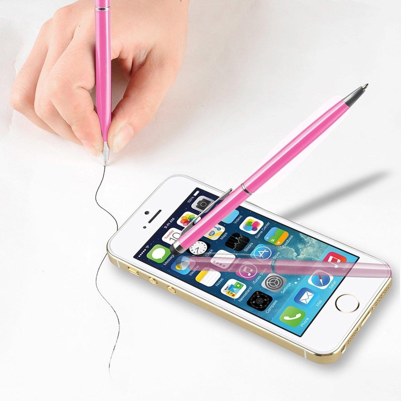 Theo & Screen Cleoピンク2イン1スリムCapacitive Touch B00LBZW2ZE & Screen Stylusボールペンペン B00LBZW2ZE, 物産展グルメ:c2ea0c3c --- sharoshka.org