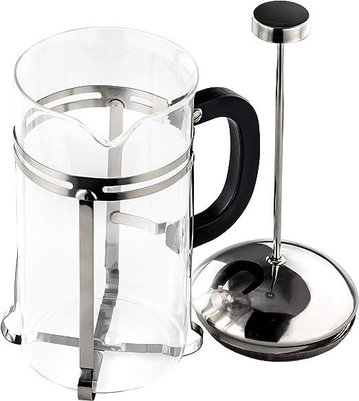 Gourmet - Cafetera y tetera de acero inoxidable ultradelgado Vaso de 4 oz. Cafetera de cristal resistente al calor apta para lavavajillas, ideal para frío, espresso, hojas sueltas o leche espumosa: Amazon.es: