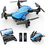 DEERC D20 Mini Drone with Camera for Kids, Remote Control Toys Gifts for Boys Girls with Voice Control, Gestures Selfie, Alti