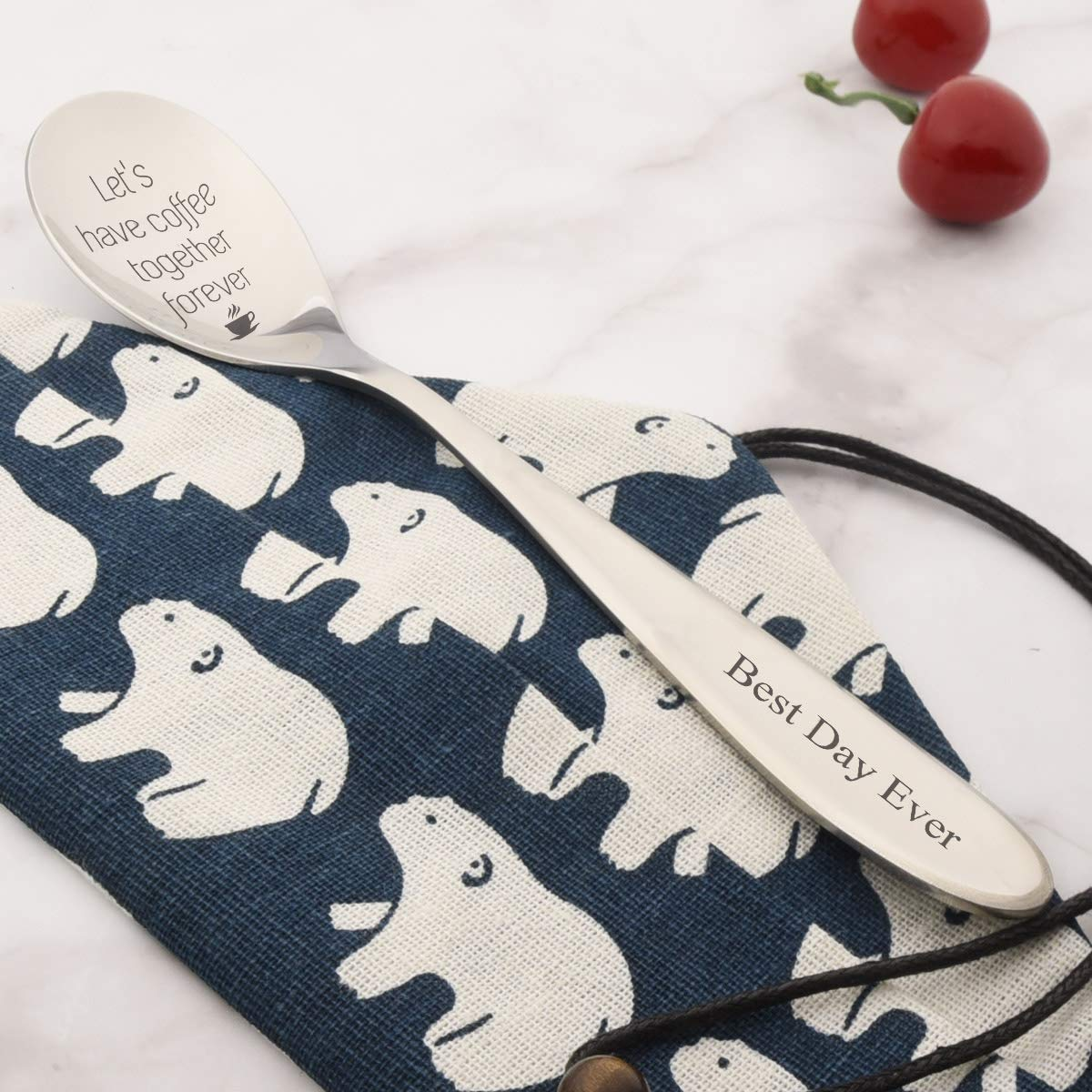 Unique Wedding Gift For Bride and Groom,Valentines Day,Anniversary Gifts Valentine/'s Day I Like Her Butt Couples Funny Spoon Set I Like His Beard