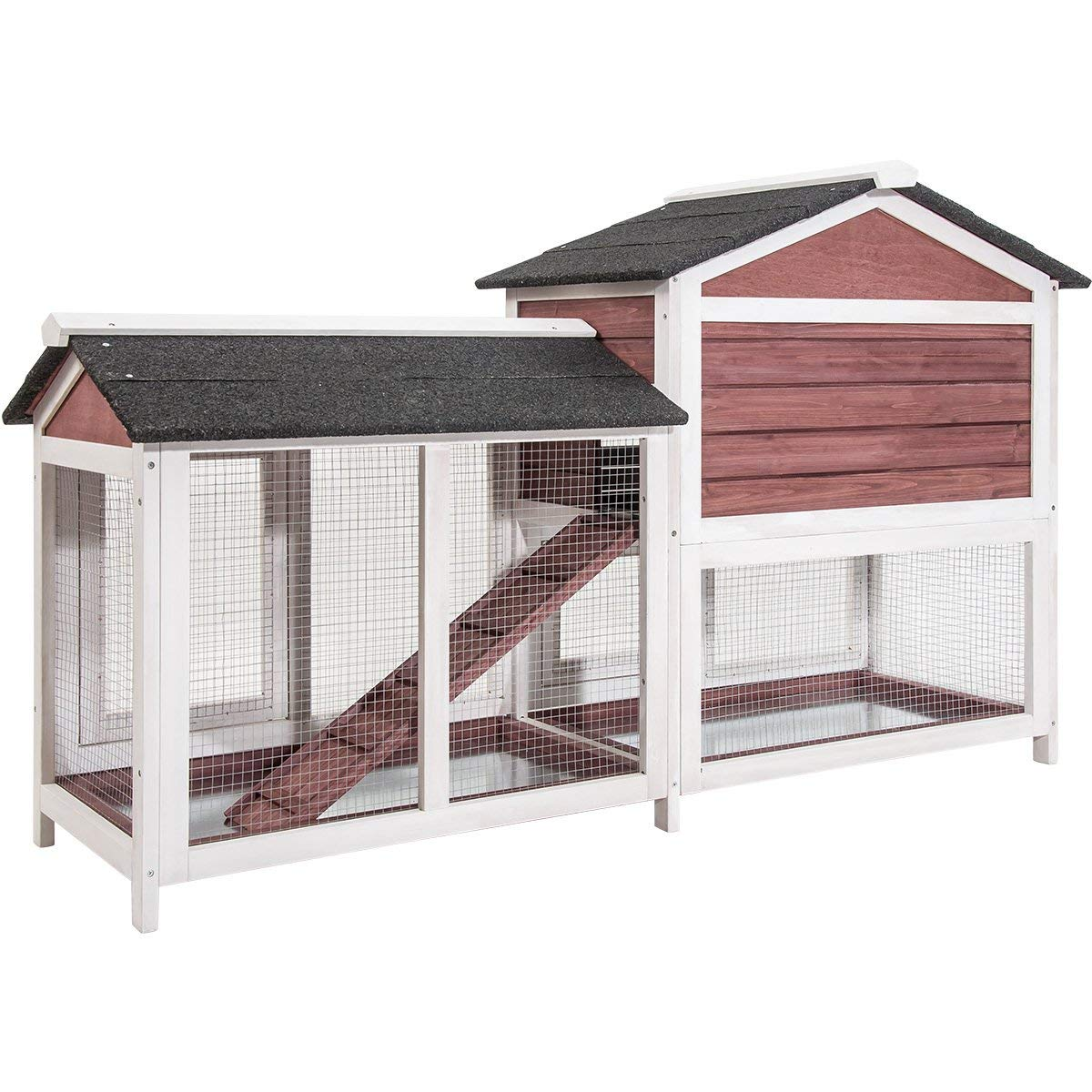 Purlove Pet Rabbit Hutch Wooden House Chicken Coop for Small Animals (Rabbit Hutch #4) by Purlove (Image #7)