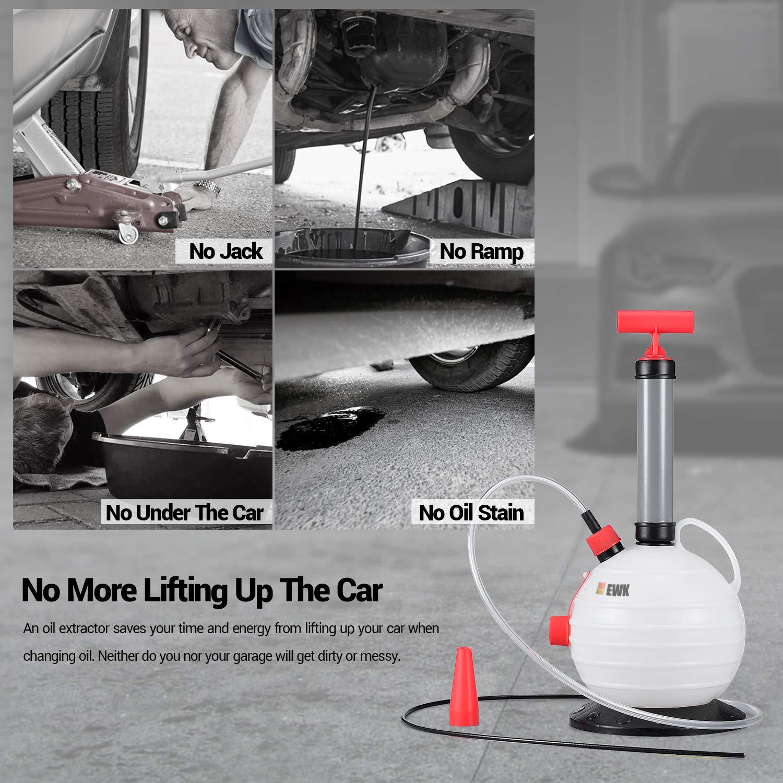 EWK 6L Manual Fluid Extractor Pump Vacuum Oil Changer Evacuator Kit by EWK (Image #6)