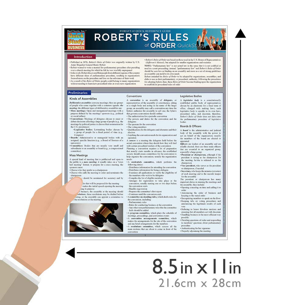 Robert S Rules Of Order Summary Version