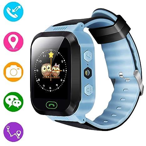 Reloj inteligente para niños, rastreador GPS para niños niñas niños verano al aire libre cumpleaños