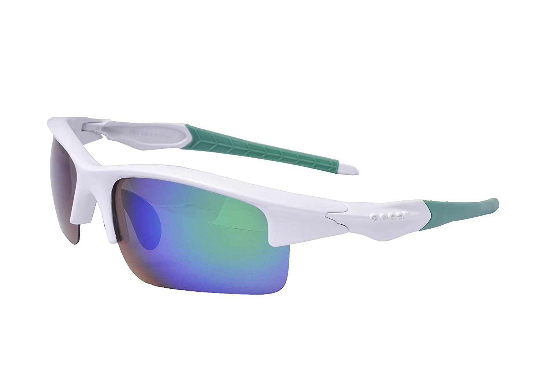 Ocean Sunglasses Giro - Gafas de Sol polarizadas - Montura : Blanco/Verde - Lentes : Verde Espejo (3901.2): Amazon.es: Deportes y aire libre