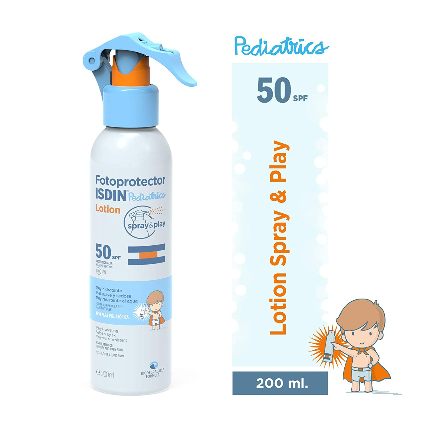Fotoprotector ISDIN Pediatrics Lotion Spray & Play SPF 50 200 ml ...