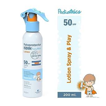 Fotoprotector ISDIN Pediatrics Lotion Spray & Play SPF 50 200 ml ...