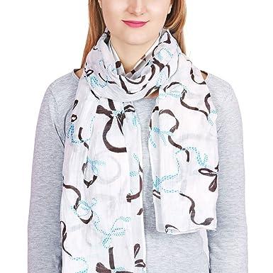fab48ad7661 Allée du foulard Chèche fantaisie Tasma Blanc  Amazon.fr  Vêtements ...