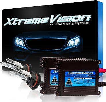 5K Bright White Bi-Xenon 9007 5000K HID-Warehouse 35W DC Xenon HID Lights with Premium Slim Ballast 2 Year Warranty