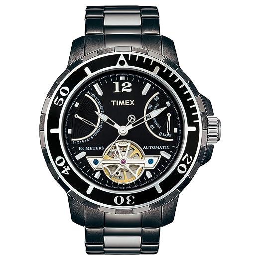Timex Automatic Classic T2M516 - Reloj de Caballero automático, Correa de Acero Inoxidable Color Negro: Amazon.es: Relojes