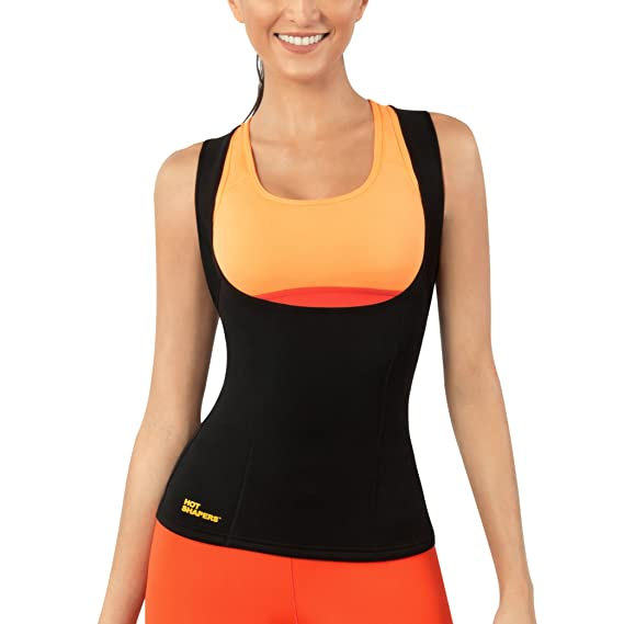 16ed76c905 Hot Shapers® Women s Cami Hot Waist Trimmer Shirt. Seamless Slimming Body  Shaper for Weight