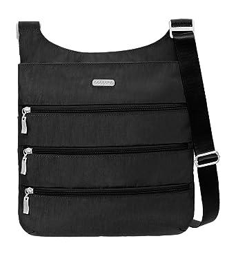 f6ab6ff0200d92 Baggallini Big Zipper Travel Crossbody Bag, Black, One Size ...