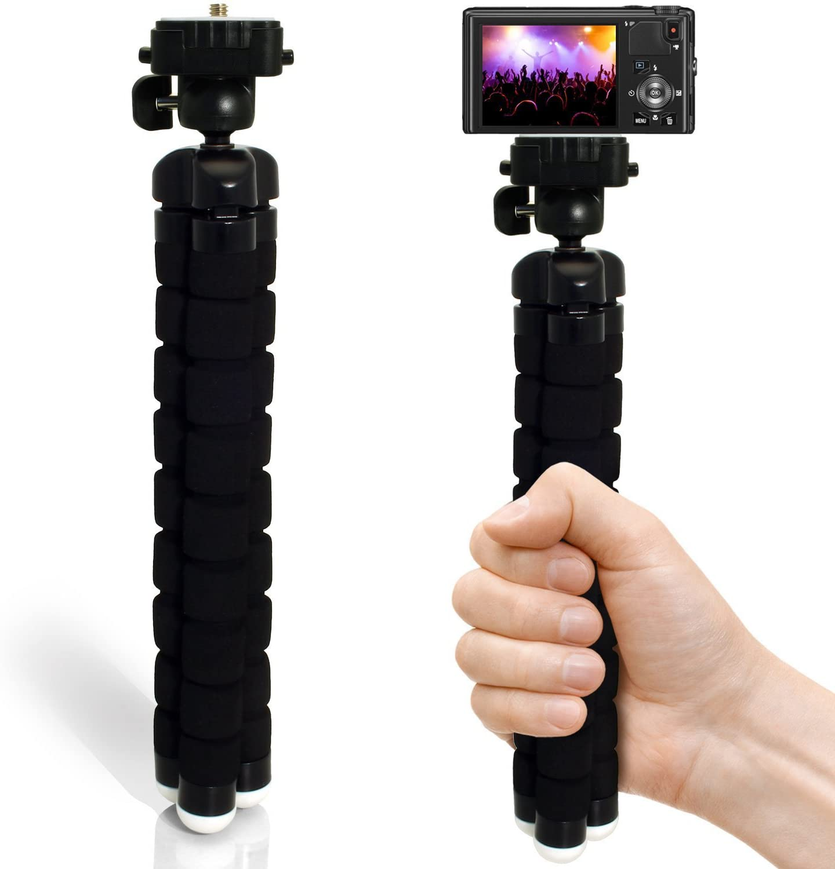 Black Phot-R 13.5 cm Small Mini Universal Table Top Tripod for Digital Compact Camera