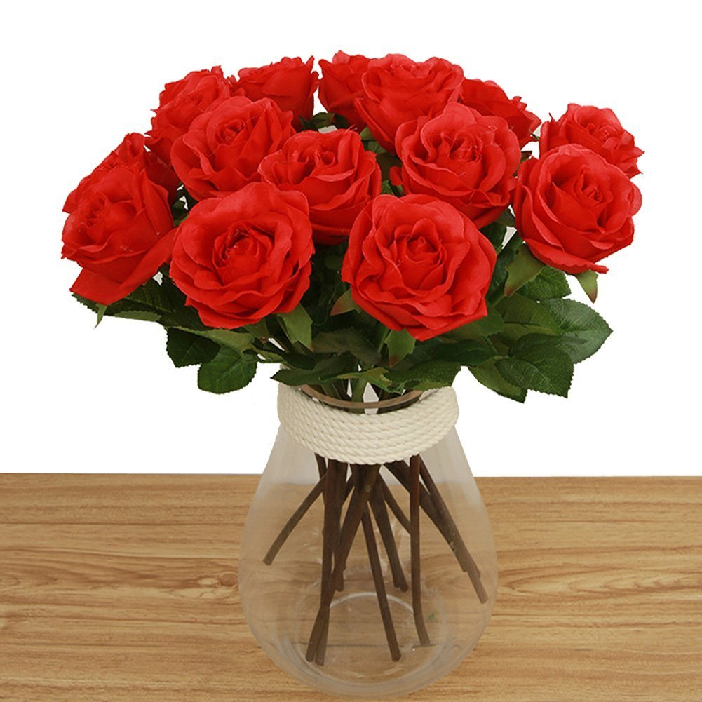 Amazon Bringsine Artificial Flowers Real Touch Pu Flowers Silk
