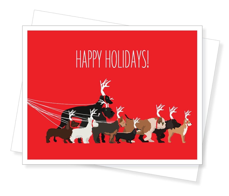 Amazon dog walk holiday christmas cards set of 10 greeting amazon dog walk holiday christmas cards set of 10 greeting cards arts crafts sewing kristyandbryce Gallery