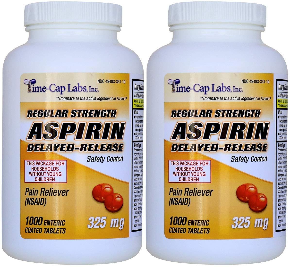 Aspirin Adult Regular Strenght Enteric Coated 325 Mg Generic For Ecotrin Bayer Aspirin 1000