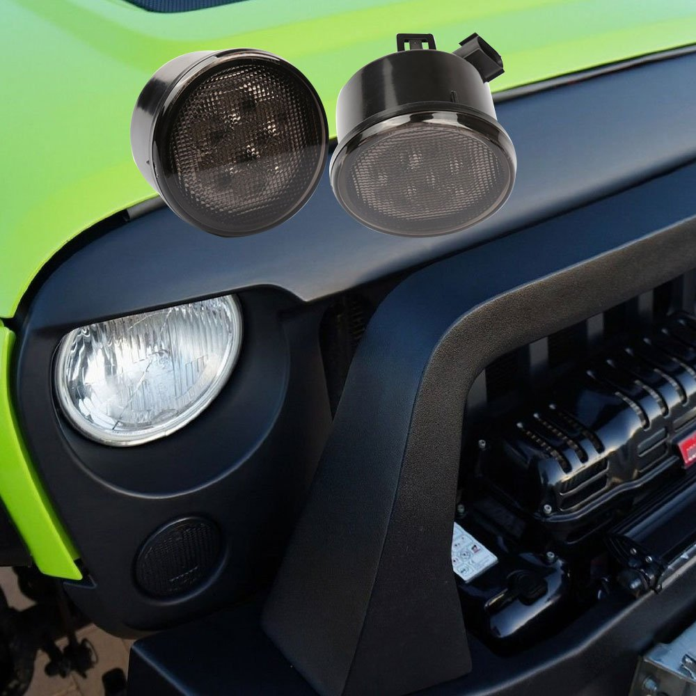 Jeep Wrangler Jk Glossy Black Abs Angry Bird Style Mesh