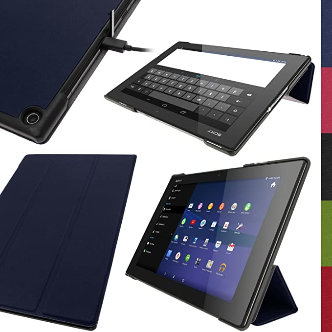 igadgitz Azul Funda Eco Piel para Sony Xperia Z2 10.1 Tablet SGP511 SGP521 SGP512 con Reposo/ Activación + Protector Pantalla: Amazon.es: Electrónica