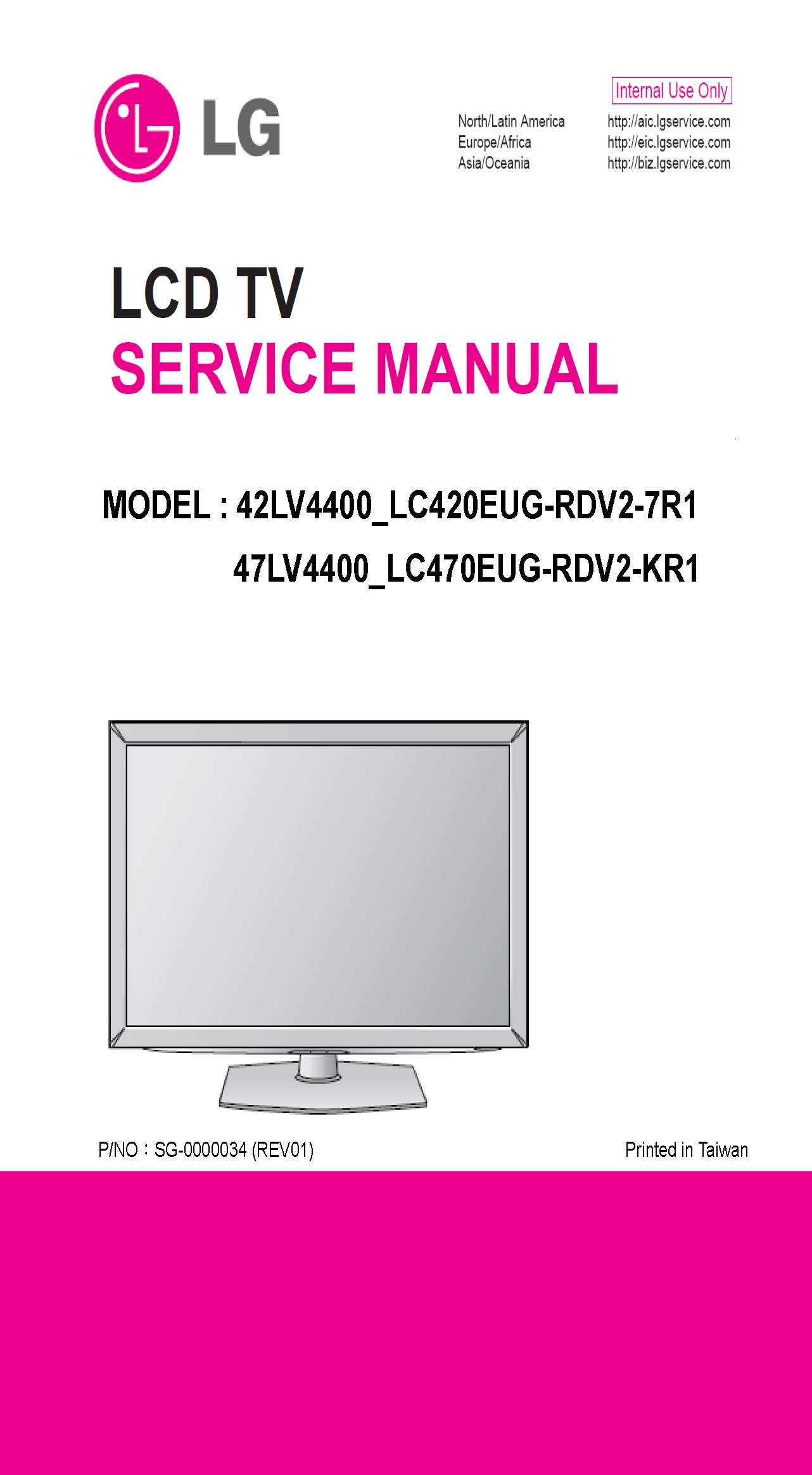 lg 47lv4400 42lv4400 service manual lg amazon com books rh amazon com LG Touch Phone Operating Manual LG Touch Phone Operating Manual