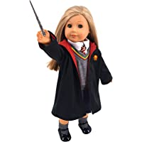 """ebuddy Magic School Uniform Inspired Doll Clothes for American Girl Dolls and 18"""" Dolls: 8pc Sets (Includes Shirt, Skirt…"""