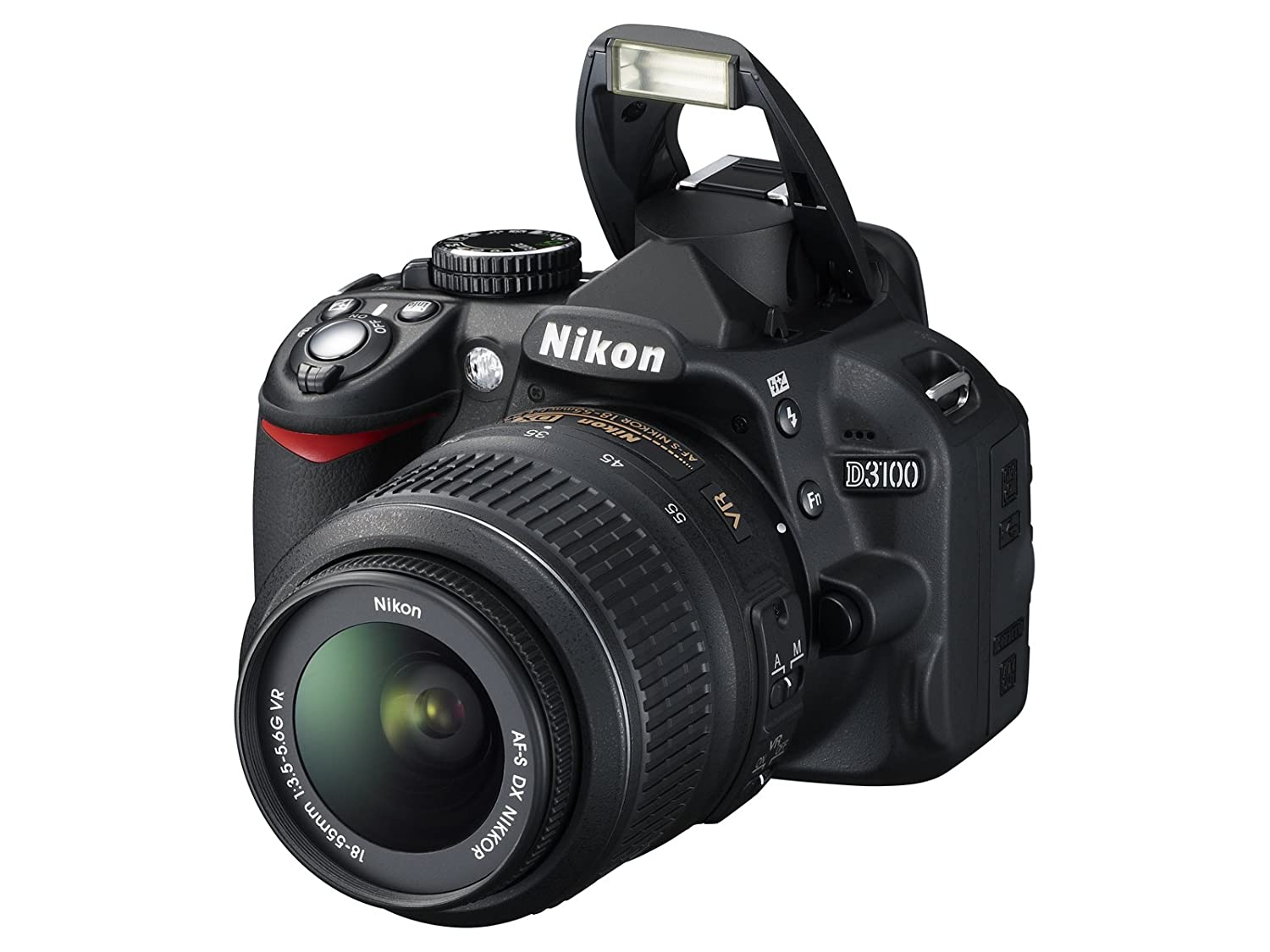 b08614f3f870 Amazon.com : Nikon D3100 DSLR Camera with 18-55mm f/3.5-5.6 Auto Focus-S  Nikkor Zoom Lens (Discontinued by Manufacturer) : Camera & Photo