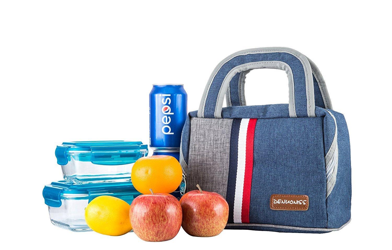 Flyfish Lunch Bag Lunch Box Tasche Wiederverwendbar Rei/ßverschluss Handtasche Ges/ä/ßtasche Isoliertasche K/ühltasche Lunch Organizer Halter Container Lunchpaket Lunchtasche Lunch-Boxen 7.5L