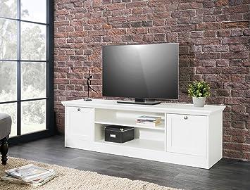 Expendio Lowboard Landström 17 Weiß 160x48x45 Cm TV Board TV Schrank  TV Möbel