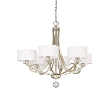 capital lighting 4266wg 552 hutton 6 light chandelier winter gold