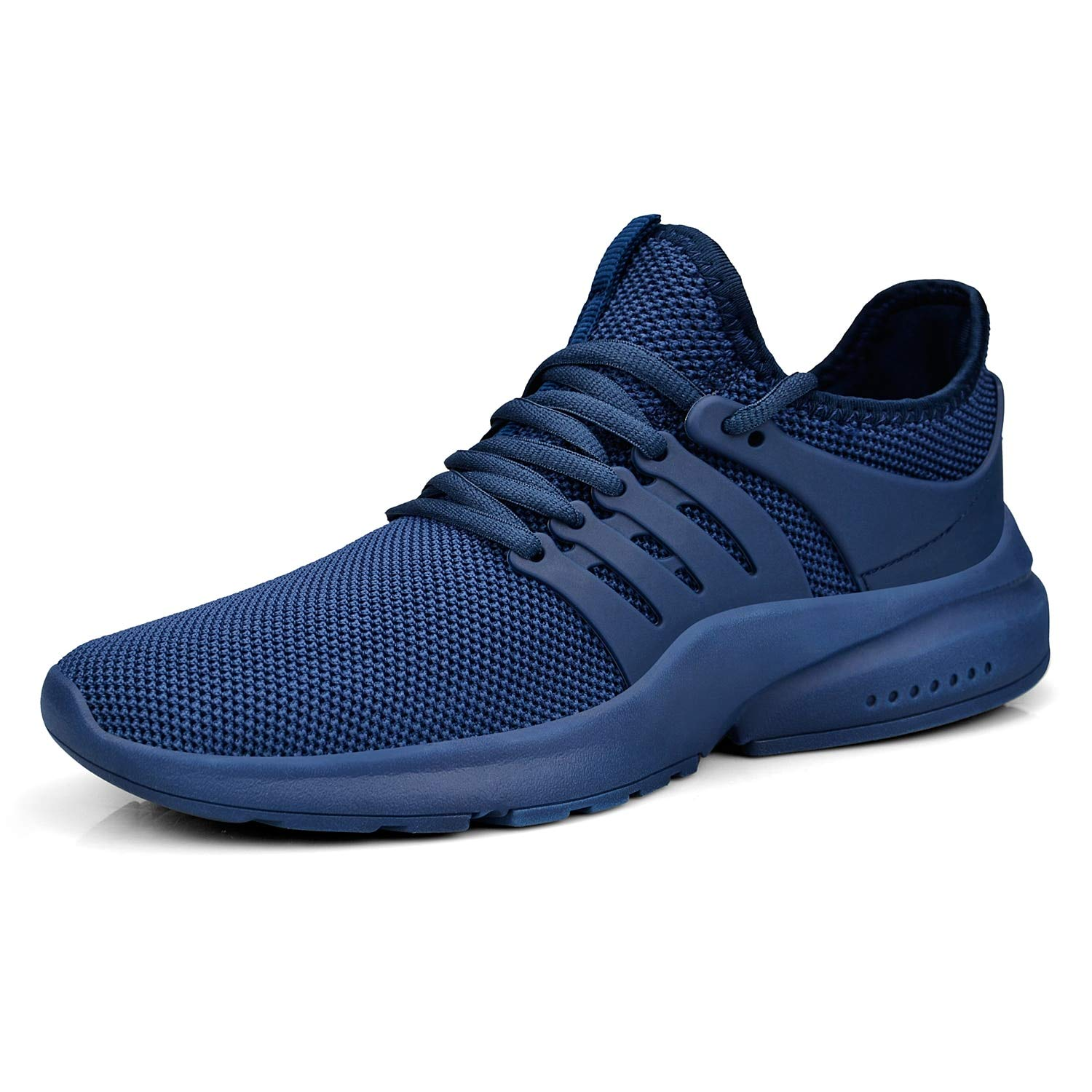 Feetmat Men's Running Shoes Lightweight Non Slip Breathable Mesh Sneakers Sports Athletic Walking Shoes Blue 12M by Feetmat