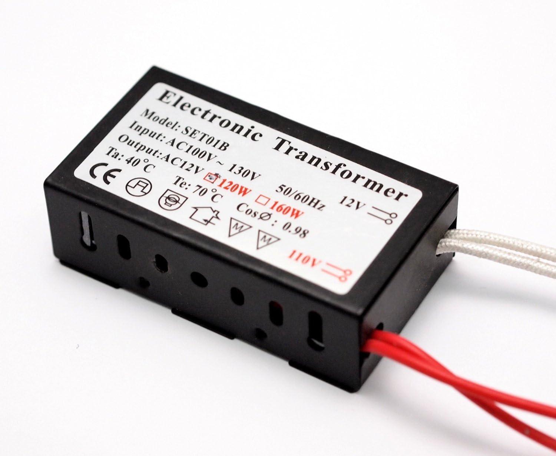 Value 2 Pack 140w To 12v Halogen Bulb Spot Lamp Power Supply Ac 100 Volt 120 Volt To Ac 12 Volt Driver Xenon Low Voltage Transformer 2 Pin Mr16 Mr11 G4