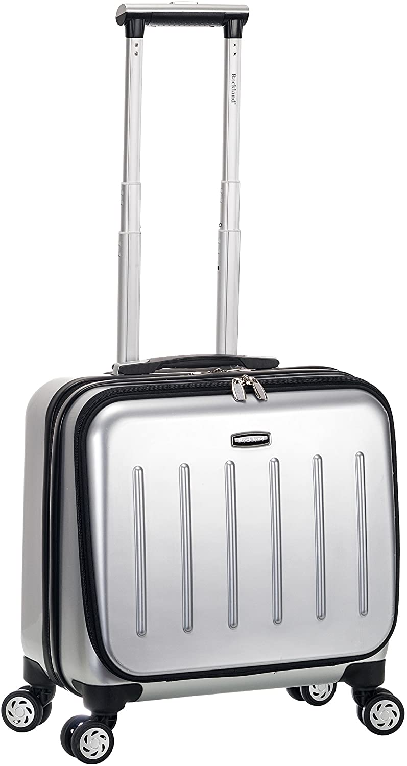 Rockland Revolution Hardside Rolling Computer Case, Silver, Carry-On 17-Inch