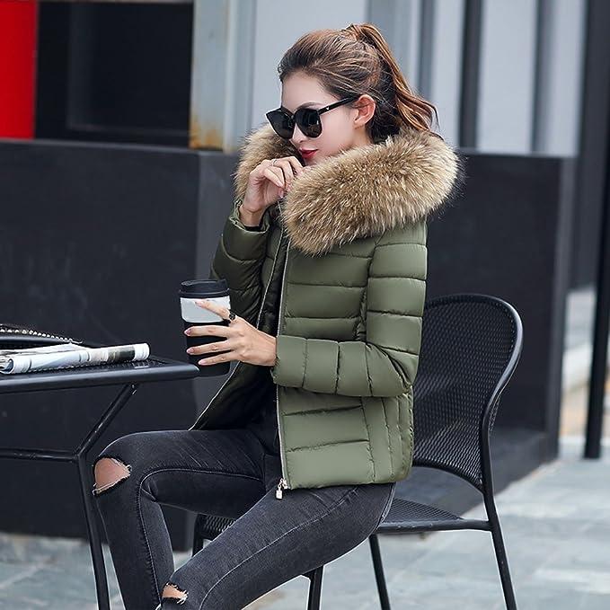 Kukul Abrigos de invierno para Mujer Nuevo Abajo chaqueta con Capucha - Slim  Down Jacket Overcoat (S 28ed9677e52e
