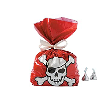 Amazon.com: fun express pirata bolsas de celofán – 12 piezas ...
