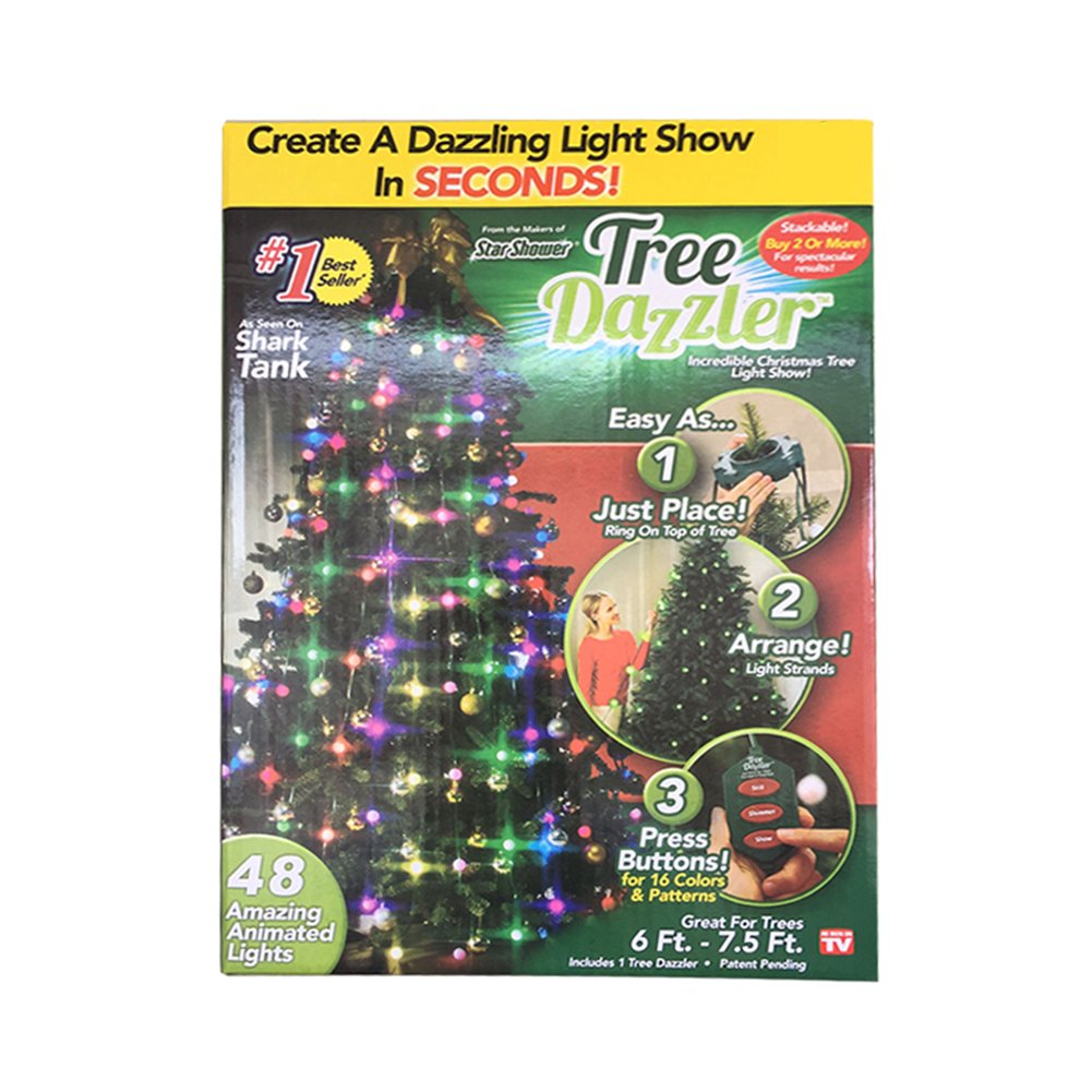 aitemay christmas tree decoration light colorful muti modes dazzling string ball lamp led with remote for xmas tree indoor garden patio bedroom - Shark Tank Christmas Lights