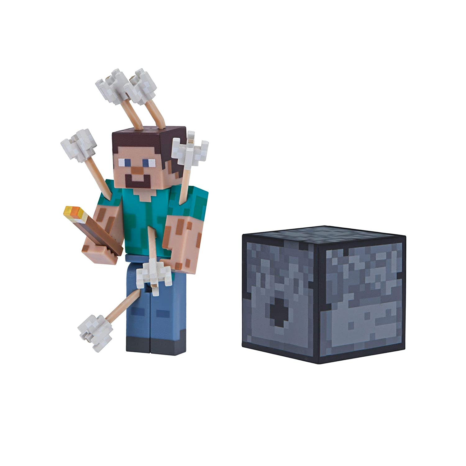 Multi Minecraft 19971 3 Inch Action Figure-Steve with Arrows