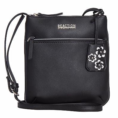 adb6ff0ca7 Kenneth Cole Reaction Dupplicator Mini Crossbody BAG (BLACK W SILVER  HARDWARE)  Amazon.co.uk  Shoes   Bags