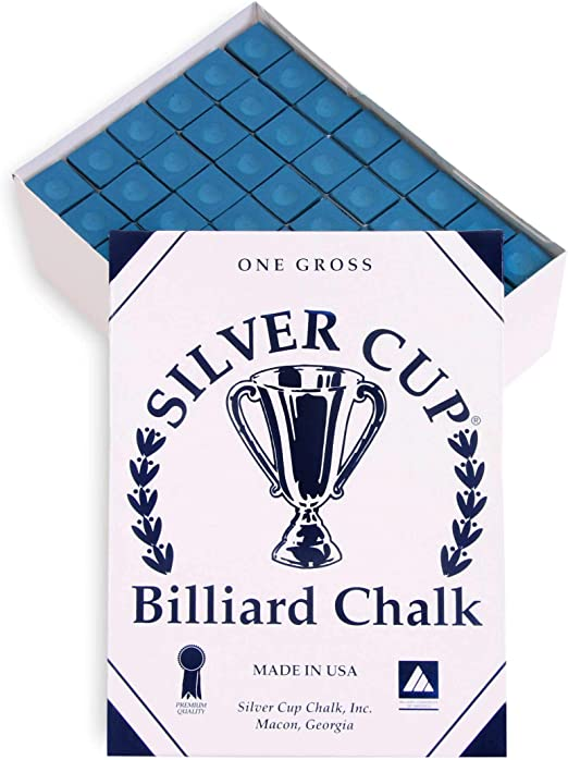 Silver Cup - Tiza para billar (144 unidades), color azul: Amazon ...