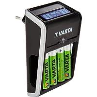Varta Caricatore A Spina Lcd Aa/Aaa/9V E Dispositivi Usb (Incl. 4X Aa 2100Mah) 4008496773510 - 57677 Lcd Plug Charger - Nero