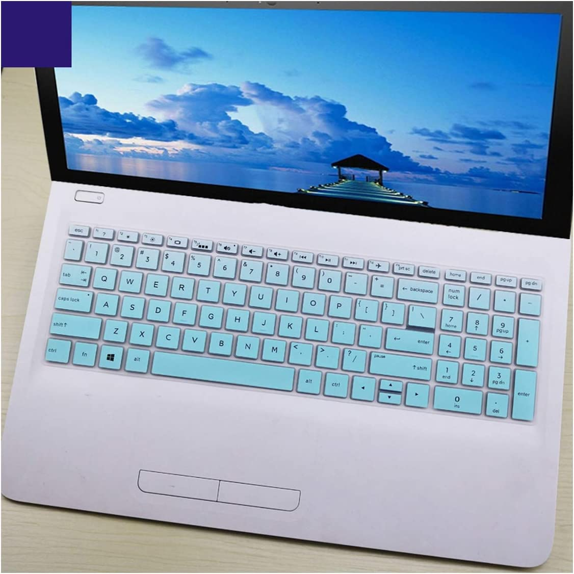 15.6 Inch Laptop Keyboard Cover Protector for Hp 250 255 G6 Notebook Pc-in Keyboard Covers from Computer /& Office,Fademint