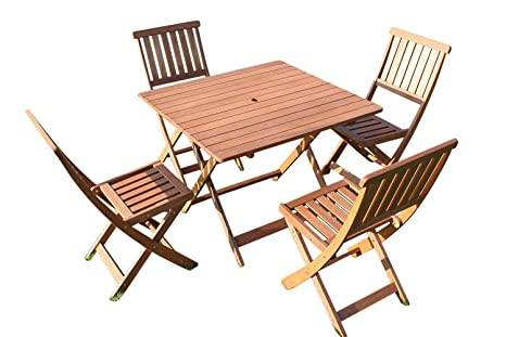 Victoria de calidad de madera sólida Square Garden mesa de ...