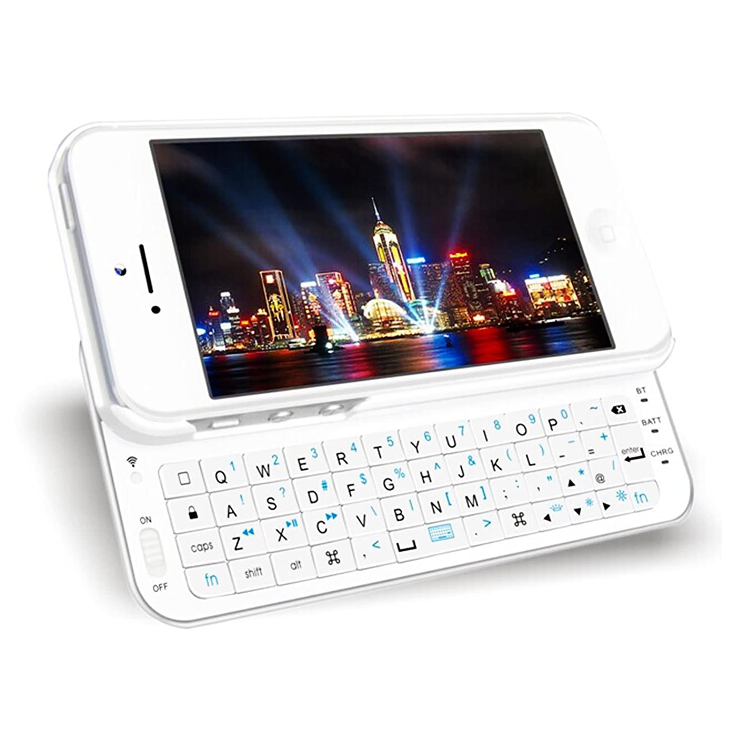 42b9f2974a6 HIGHOT Ultra-Thin Slide-Out Wireless Bluetooth Keyboard Back Case with  Backlight for 4.7inch Iphone 6 (White): Amazon.in: Electronics