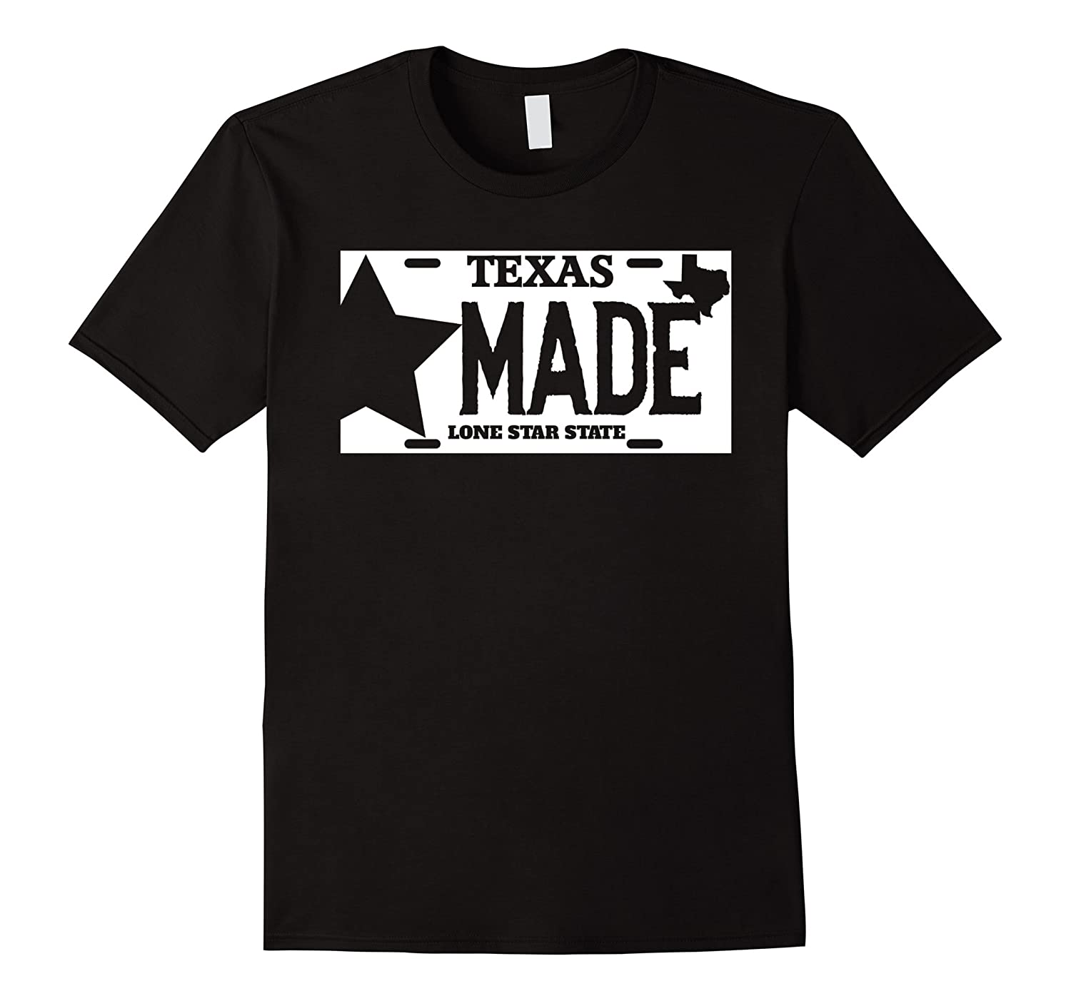 Texas made lone star license plate t shirt rt rateeshirt for T shirt licensing agreement