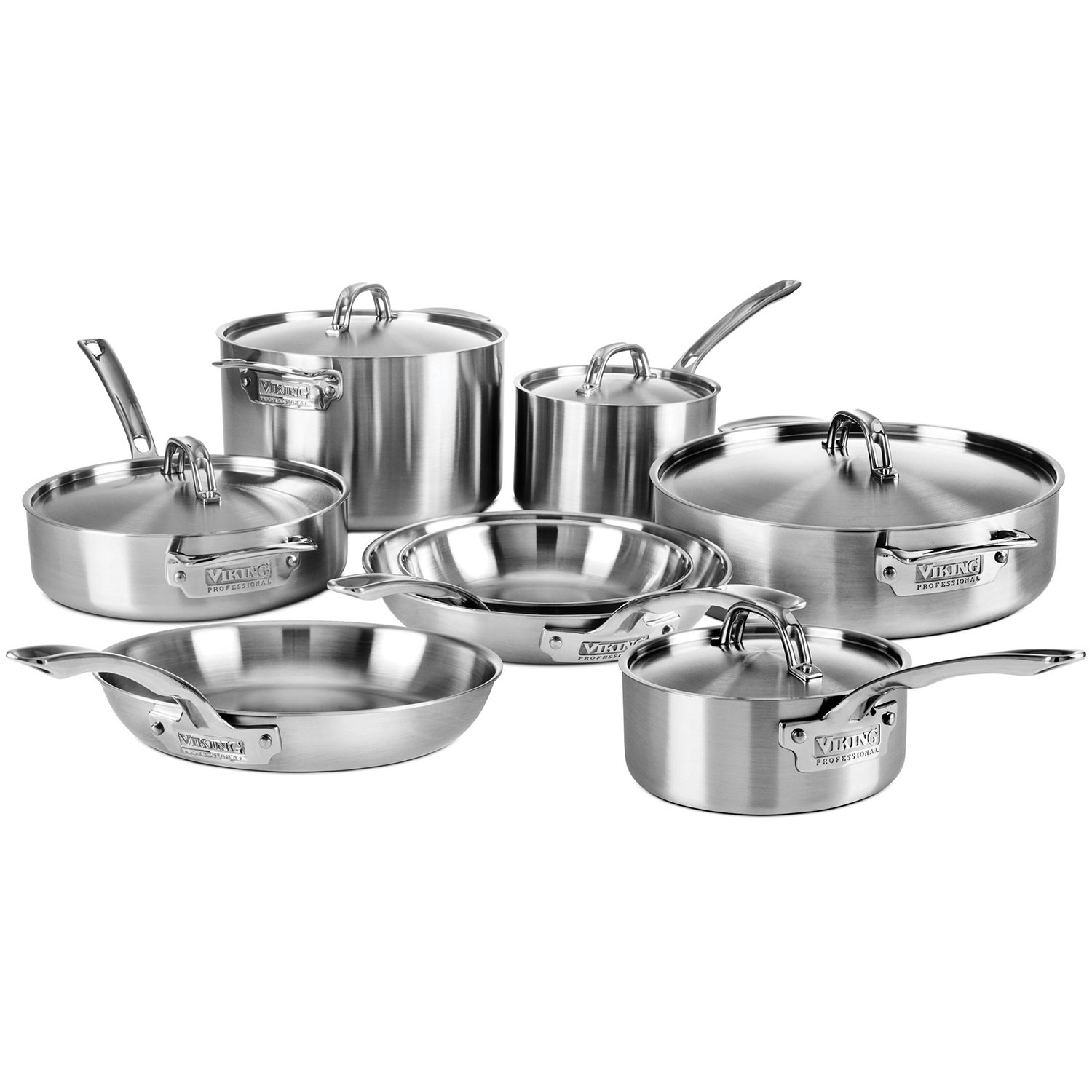 Viking Professional 5-ply Stainless Steel Cookware Set, 13-piece by Viking