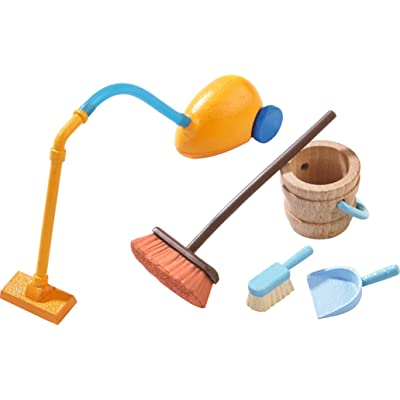 "HABA Little Friends Spring Cleaning Playset Accessory for 4"" Bendy Doll Figures: Toys & Games"