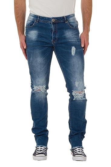 6a184d8707ca US Marshall Herren Slim Fit Jeans - Abnutzungseffekt Jeans mit  ausgefransten Saum Kevin  Amazon.de  Bekleidung