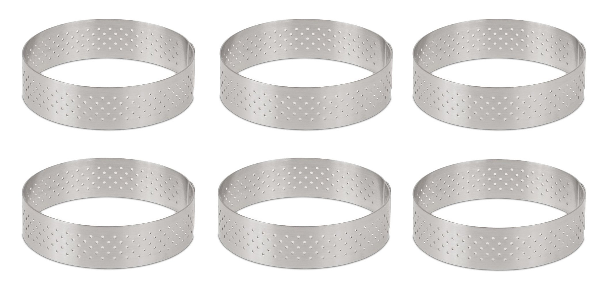DeBuyer Valrhona Perforated Tart Ring - 2.95 inch
